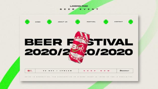 Modèle De Page De Destination Pour Le Festival De La Bière PSD Premium