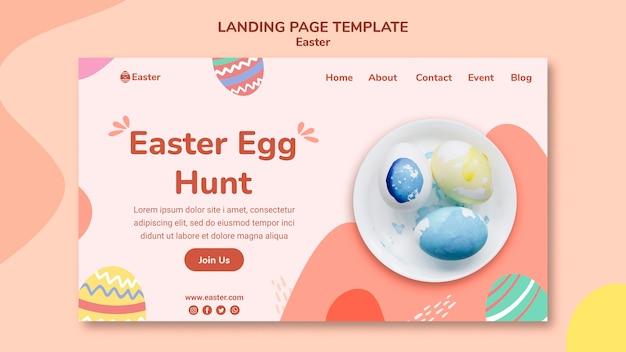 Modèle De Page De Destination Pour Le Jour De Pâques Pastel PSD Premium