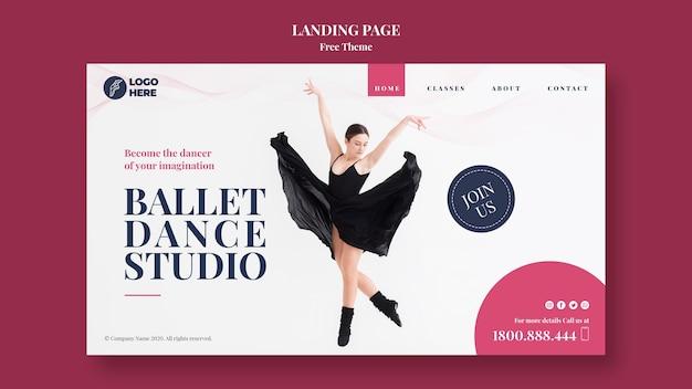 Modèle De Page De Destination De Studio De Danse Psd gratuit