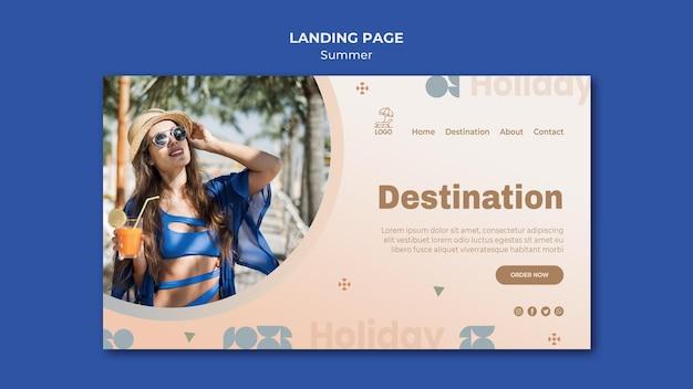 Modèle De Page De Destination De Voyage D'été PSD Premium