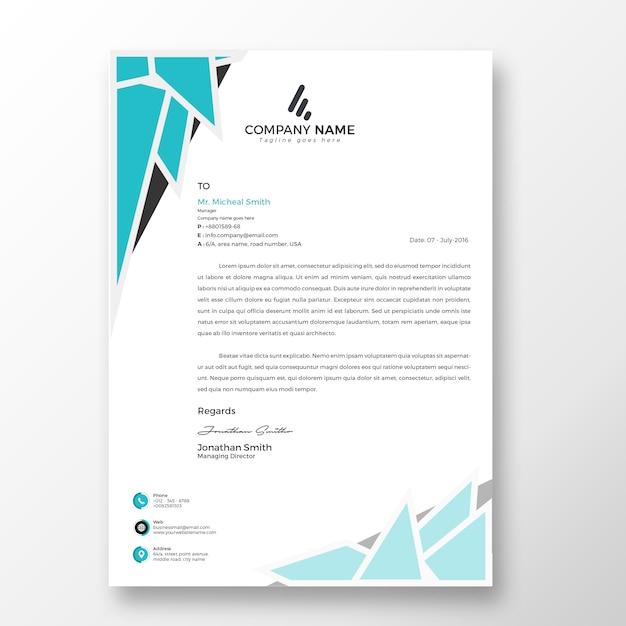 Psd Premium Modele De Papier A En Tete Moderne Attrayant