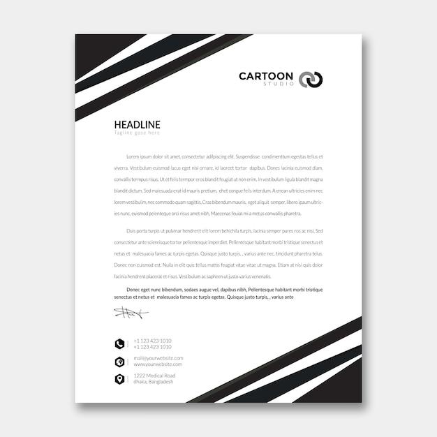Modèle de papier à en-tête PSD Premium