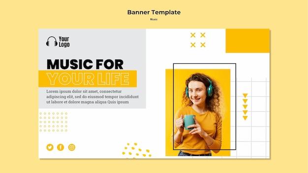 Modèle De Plate-forme De Musique De Bannière Psd gratuit