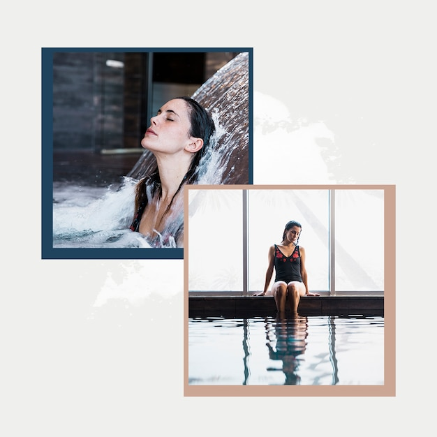 Modèle de post instagram avec concept spa Psd gratuit