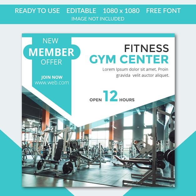 Modèle de post instagram fitness PSD Premium
