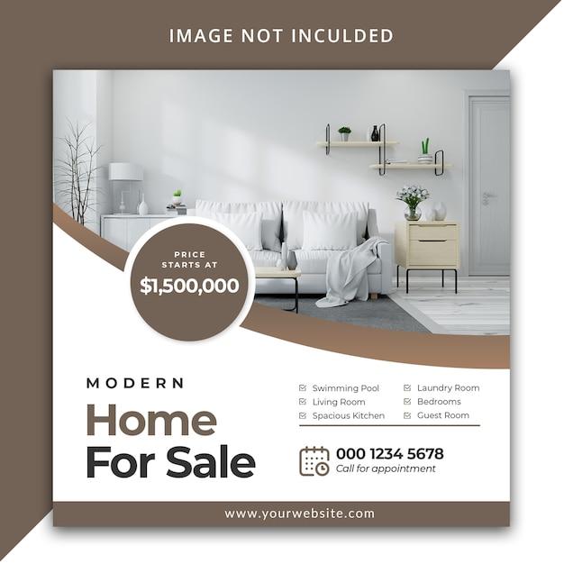 Modèle De Post Instagram Immobilier PSD Premium