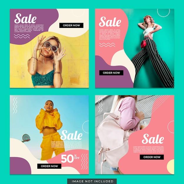 Modèle de poste instagram de vente de mode PSD Premium