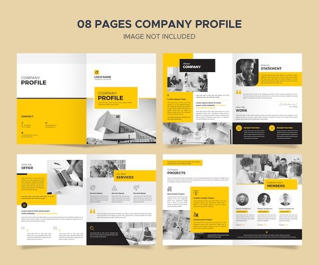 Modèle De Profil D'entreprise PSD Premium