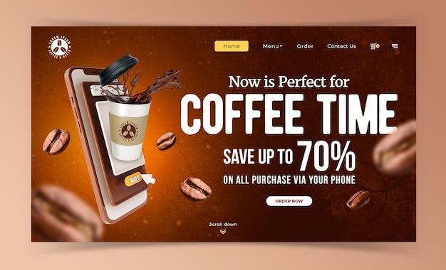 Modèle De Promotion De Marketing De Café Concept Créatif PSD Premium