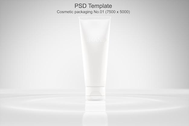 Modèle psd de maquette d'emballage cosmétique PSD Premium