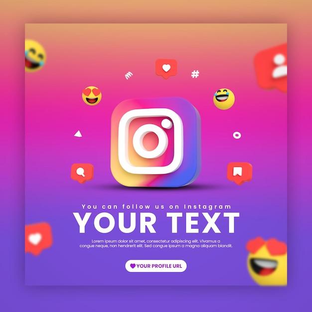 Modèle De Publication Instagram Avec Des émojis Et Des Icônes PSD Premium