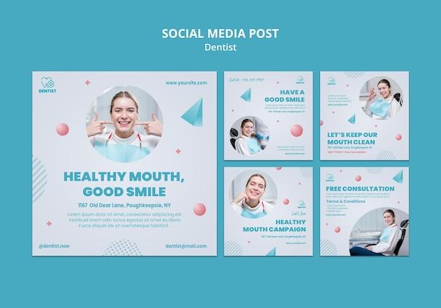 Modèle De Publication Sur Les Médias Sociaux De La Clinique Dentaire Psd gratuit