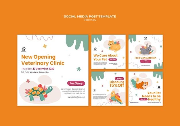 Modèle De Publication Sur Les Médias Sociaux De La Clinique Vétérinaire Psd gratuit
