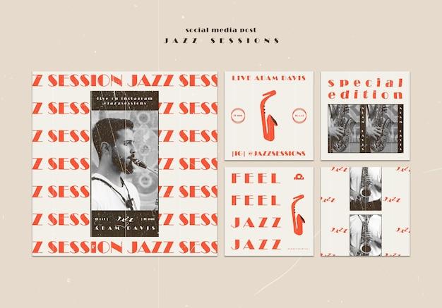 Modèle De Publication De Médias Sociaux De Concept De Jazz Psd gratuit