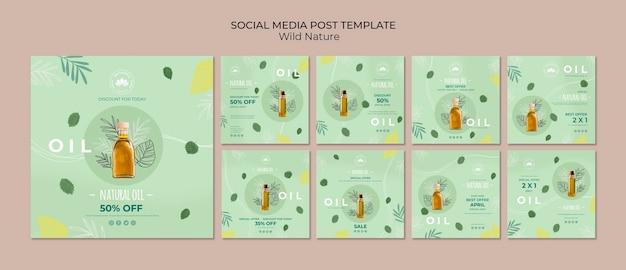 Modèle De Publication De Médias Sociaux D'huile Naturelle Psd gratuit