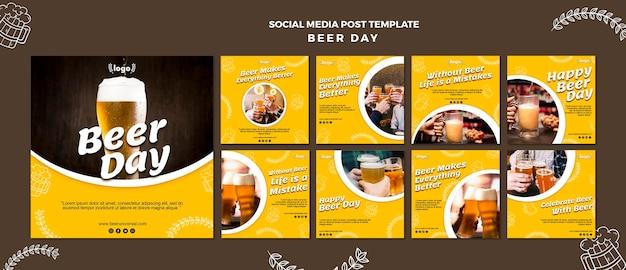 Modèle De Publication De Médias Sociaux De La Journée De La Bière Psd gratuit