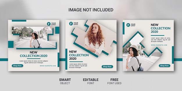 Modèle de publication de médias sociaux de mode de vente PSD Premium