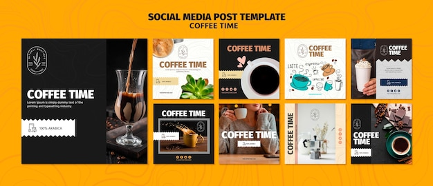 Modèle De Publication De Médias Sociaux De Temps De Café Et De Chocolat Psd gratuit