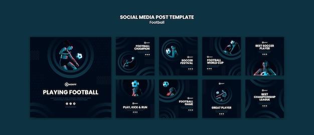 Modèle De Publication Sur Les Réseaux Sociaux De Football Psd gratuit