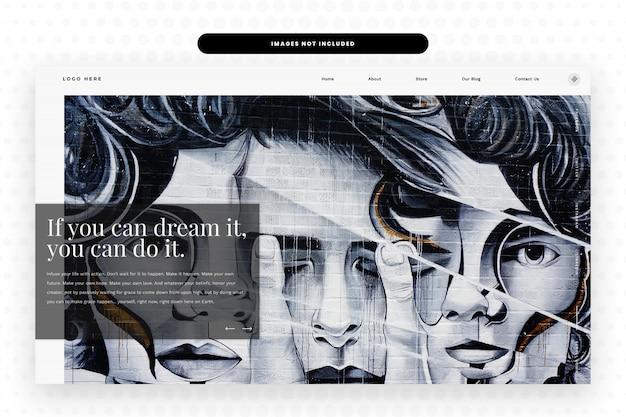 Modèle De Site Web D'artiste, PSD Premium