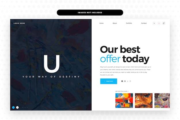 Modèle De Site Web Artistique, PSD Premium