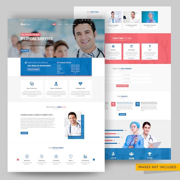 Modèle de site web medicare et service médical PSD Premium