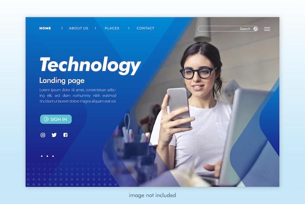 Modèle De Site Web De Page De Destination Technologique PSD Premium
