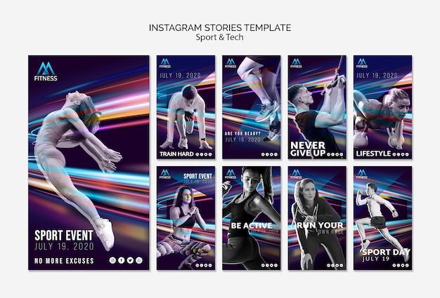 Modèle Storiest Instagram Sport Et Technologie Psd gratuit