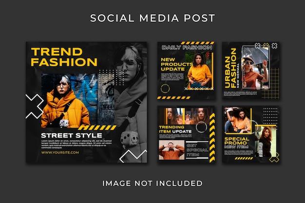Modèle De Style De Mode Instagram Post Collection PSD Premium