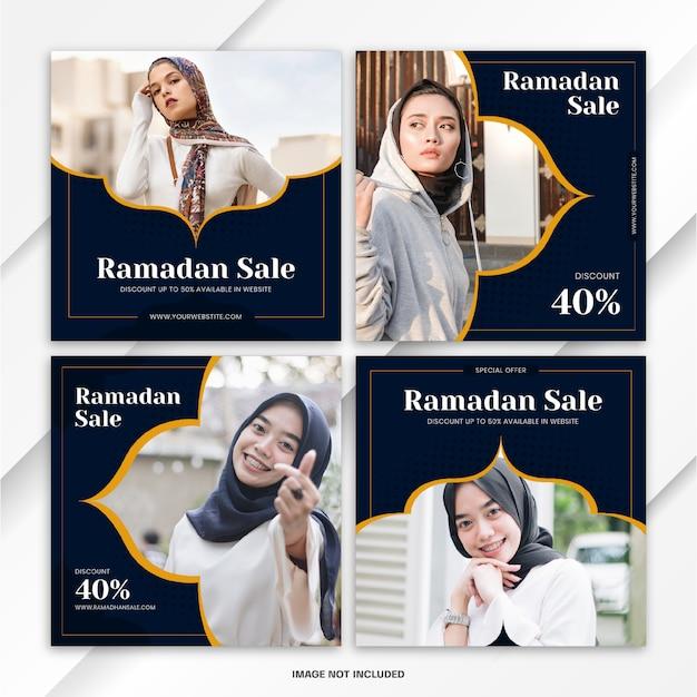 Modèle De Vente Ramadan Instagram Post Bundle PSD Premium