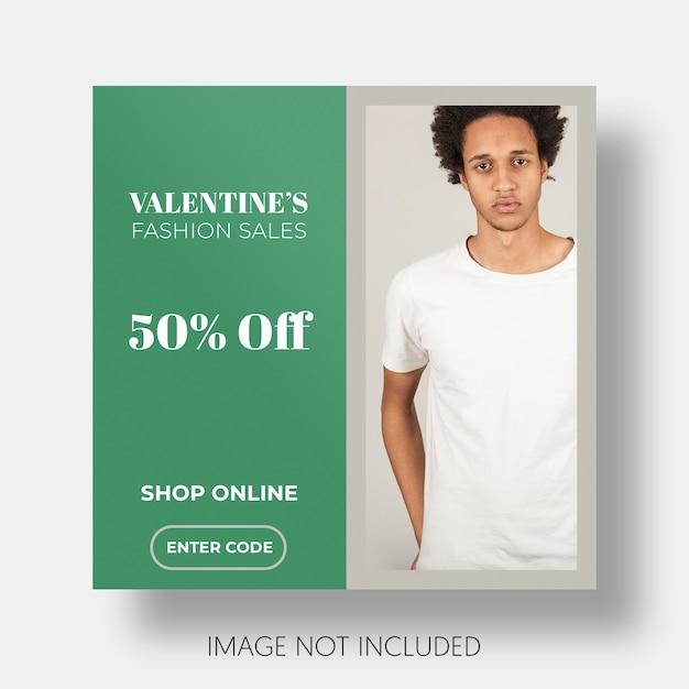 Modèle de vente sociale saint valentin Psd gratuit