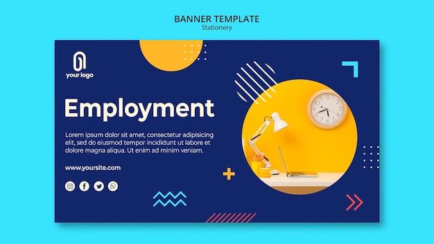 Modèle Web De Bannière De Concept D'emploi Psd gratuit