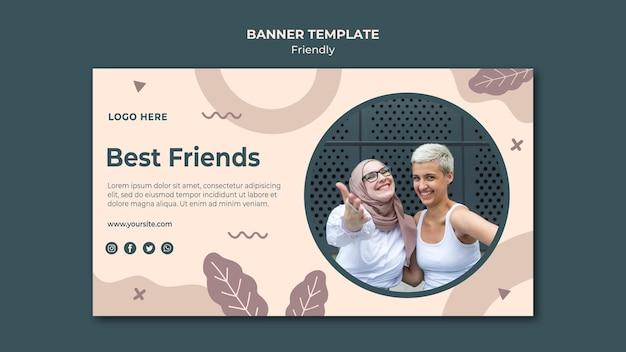 Modèle Web De Bannière Des Meilleurs Amis Psd gratuit