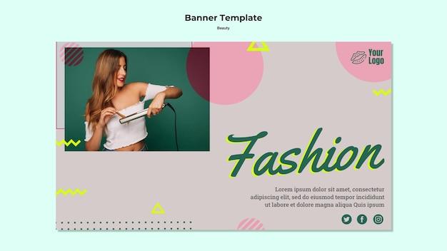 Modèle Web De Bannière De Mode Beauté Psd gratuit