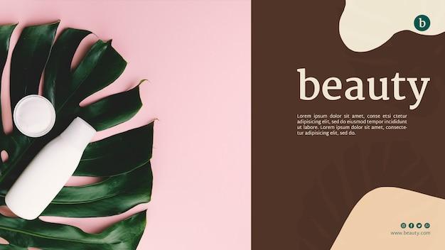 Modèle Web Beauté Avec Une Femme Psd gratuit