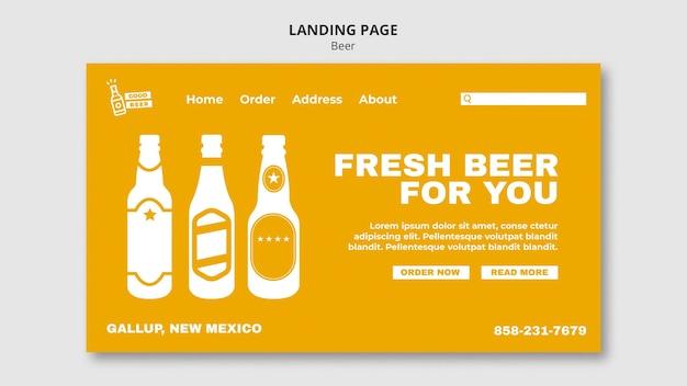 Modèle Web De Page De Destination De Bonne Bière PSD Premium