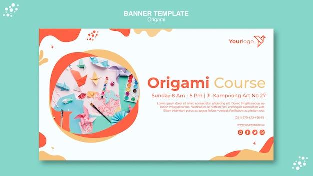 Modèle Web De Page De Destination En Origami Psd gratuit