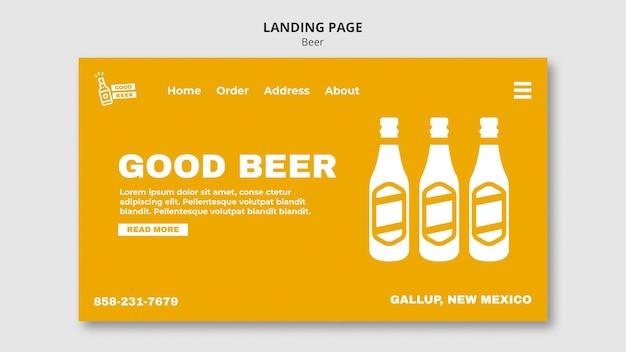 Modèle Web De Page De Destination Pour La Bière Psd gratuit