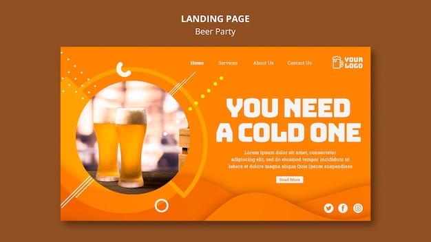 Modèle Web De Page De Destination Pour La Fête De La Bière Psd gratuit