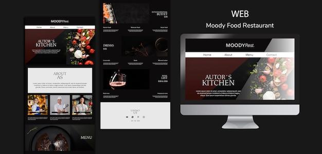 Modèle Web De Restaurant De Nourriture Moody Psd gratuit