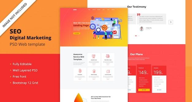 Modèle web de seo digital marketing PSD Premium