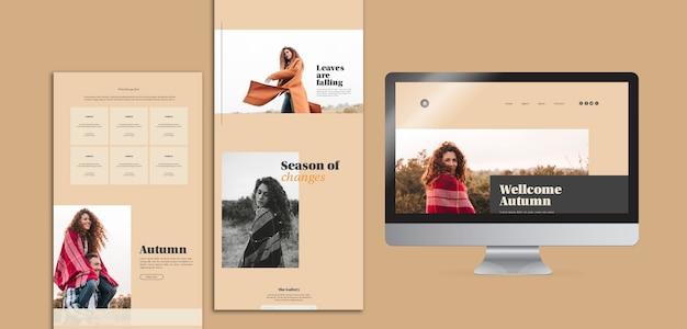 Modèles de modèles web d'automne Psd gratuit