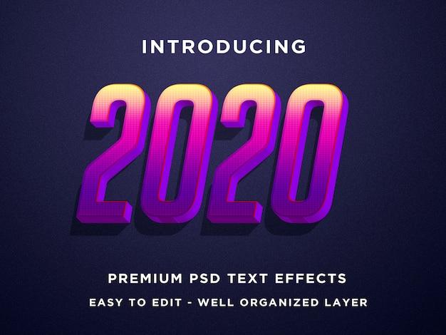 Modèles Photoshop 2020 Avec Effet De Texte 3d PSD Premium