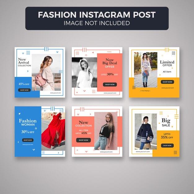 Modèles de poste ou de bannière instagram de mode PSD Premium