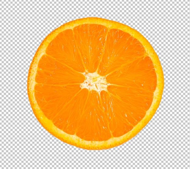 La Moitié Des Fruits Orange En Tranches Isolé PSD Premium