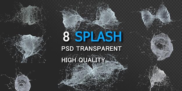 Mouvement Des éclaboussures D'eau PSD Premium
