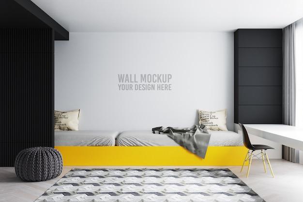 Mur De Chambre à Coucher Intérieur Pour Enfants Avec Décorations PSD Premium