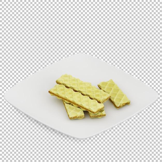 Nourriture isométrique sur plaque PSD Premium