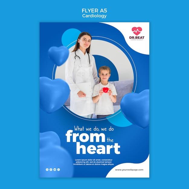 Nous Le Faisons à Partir Du Modèle De Flyer Coeur Psd gratuit