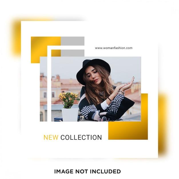 Nouveau Modèle De Publication Sur Les Médias Sociaux De La Nouvelle Collection PSD Premium